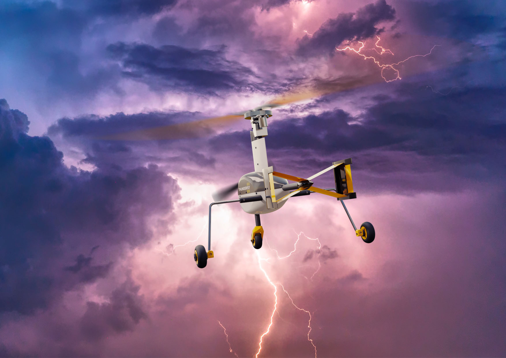 The TF-G1 is designed to withstand thunderstorms